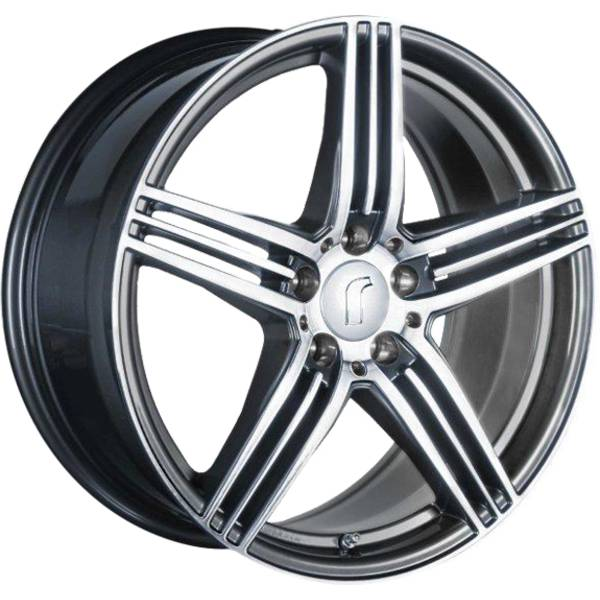 Rondell 0217 DARK GREY FF POL 5X112 ET45 HB70.4 EH2+ ALLOYWHEEL 8.5X18